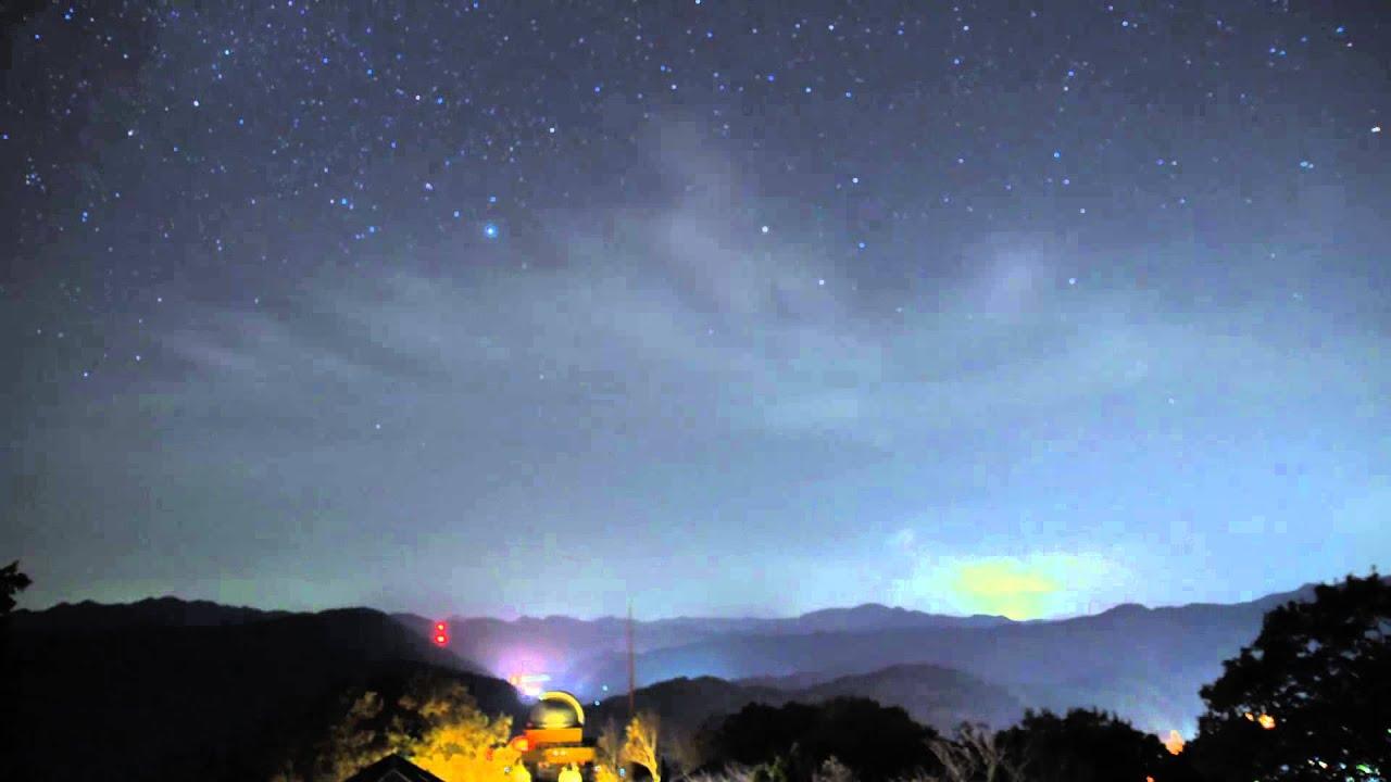 日原天文台星空のLaps - YouTube