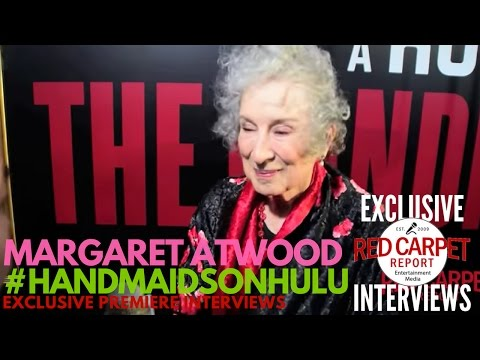 Margaret Atwood interviewed at Hulu's The Handmaid's Tale LA premiere #NowStreaming #HandmaidsOnHulu