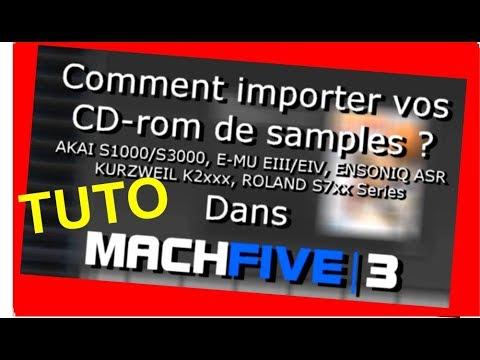Tuto MACHFIVE 3 importer CDrom Akai, Emu, Roland, Kurzweil et Ensoniq - Home Studio