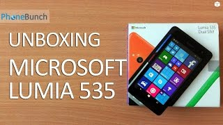 microsoft Lumia 535 Unboxing & Hands-on in Hindi - PhoneRadar