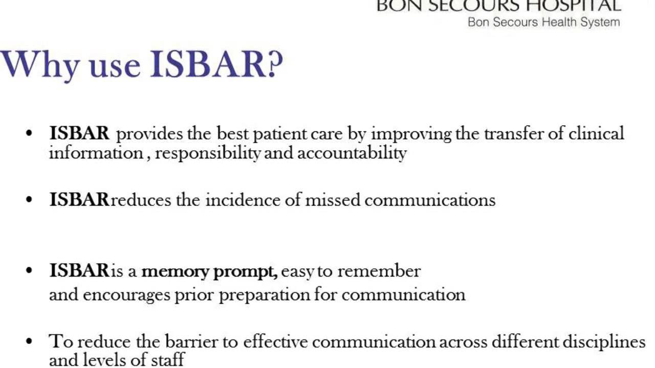 isbar nursing handover