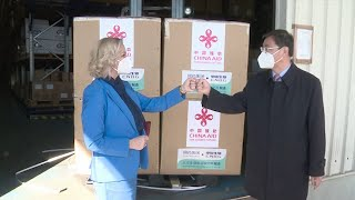 GLOBALink | China-donated COVID-19 vaccines arrive in Montenegro