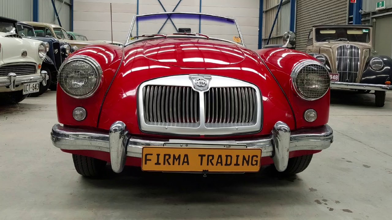 1956 MG MGA for sale at Firma Trading Classic Cars Australia - YouTube
