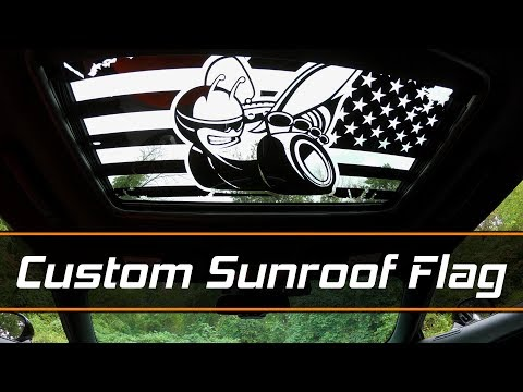 Sunroof Flag Decal Install - Scat Pack Bee From Luxe Auto Concepts