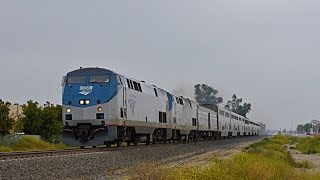 Memorial Day - Union Pacific stacks and Amtrak Sunset Limited