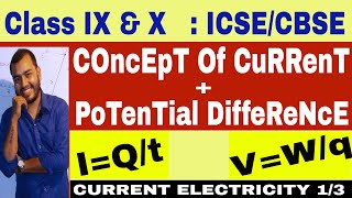 ICSE CBSE Class 10th Current Electricity 01 Current and Potential Difference English