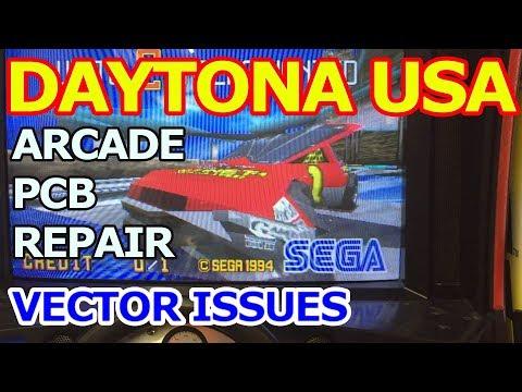 Daytona USA Arcade PCB repair - 3D vector graphics issues