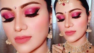 Glittery Makeup After Marriage| Party/ Indian Wedding Guest In Hindi शादी के बाद नई दुल्हन का मेकअप
