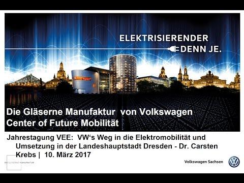 Volkswagens Weg in die Elektromobilität und Umsetzung in Dresden | Dr. Carsten Krebs