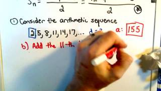 Finding the Sum of a Finite Arithmetic Series