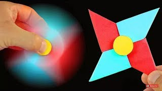 Hacer un Origami Fidget Spinner - How To Make A Paper Fidget Spinner WITHOUT BEARINGS