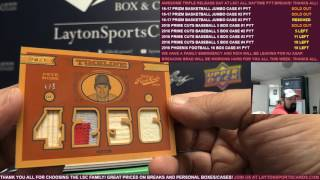 2016 Panini Prime Cuts Baseball 5 Box Case Break #1 PYT