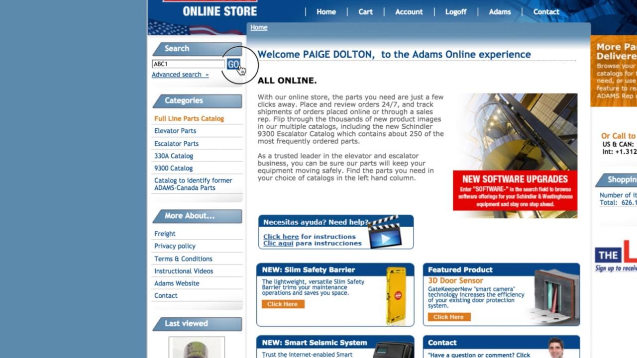 Online Store FAQ | Adams Elevator