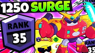 My First EVER 1250 Trophy Brawler! Rank 35 Surge in Brawl Stars!