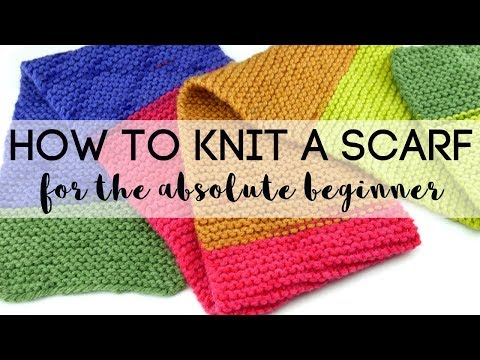 How to Knit a Scarf for the Absolute Beginner