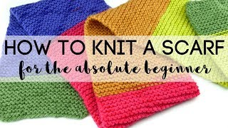 How to Knit a Scąrf for the Absolute Beginner