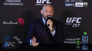 UFC 257: Conor McGregor Post-fight Press Conference