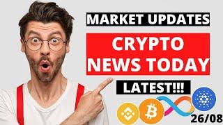 Crypto News Today Hindi - 26/08 | Cryptocurrency News Today | Bitcoin News Today | #Cryptocurrency