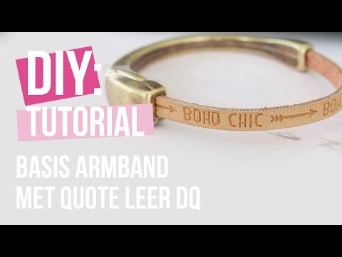 Sieraden maken: Basis armband met Leer DQ ♡ DIY