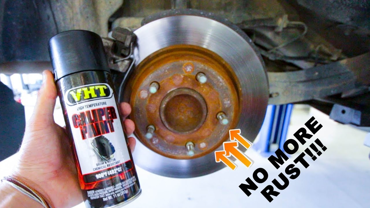 Painting Rusted Brake Rotors Quick Fix Youtube