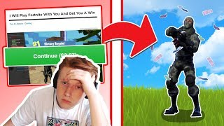 Hiring STRANGERS on Fiverr To Get Me a WIN in Fortnite
