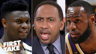 Stephen A. reacts to Zion's battle vs. LeBron | First Take