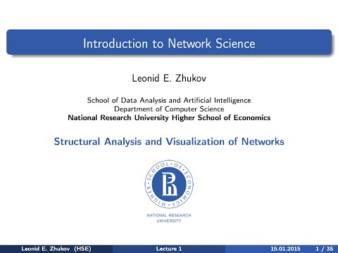 Network Analysis. Lecture 1. Introduction to Network Science