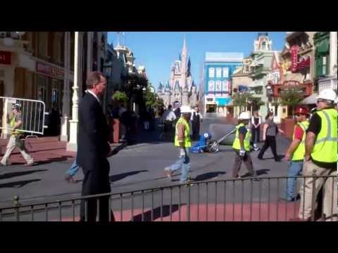 Clean-up on Main St after Obama's Speech - Magic Kingdom 2012