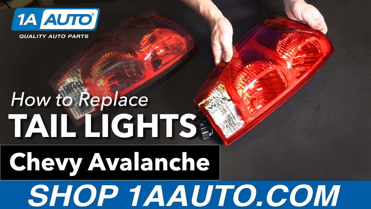 hight resolution of how to replace tail lights 03 06 chevy avalanche 1a auto parts