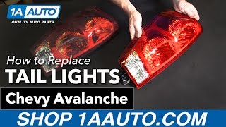 How to Replace Install Tail Lights 2003-06 Chevy Avalanche Buy Quality Auto Parts at 1AAuto.com