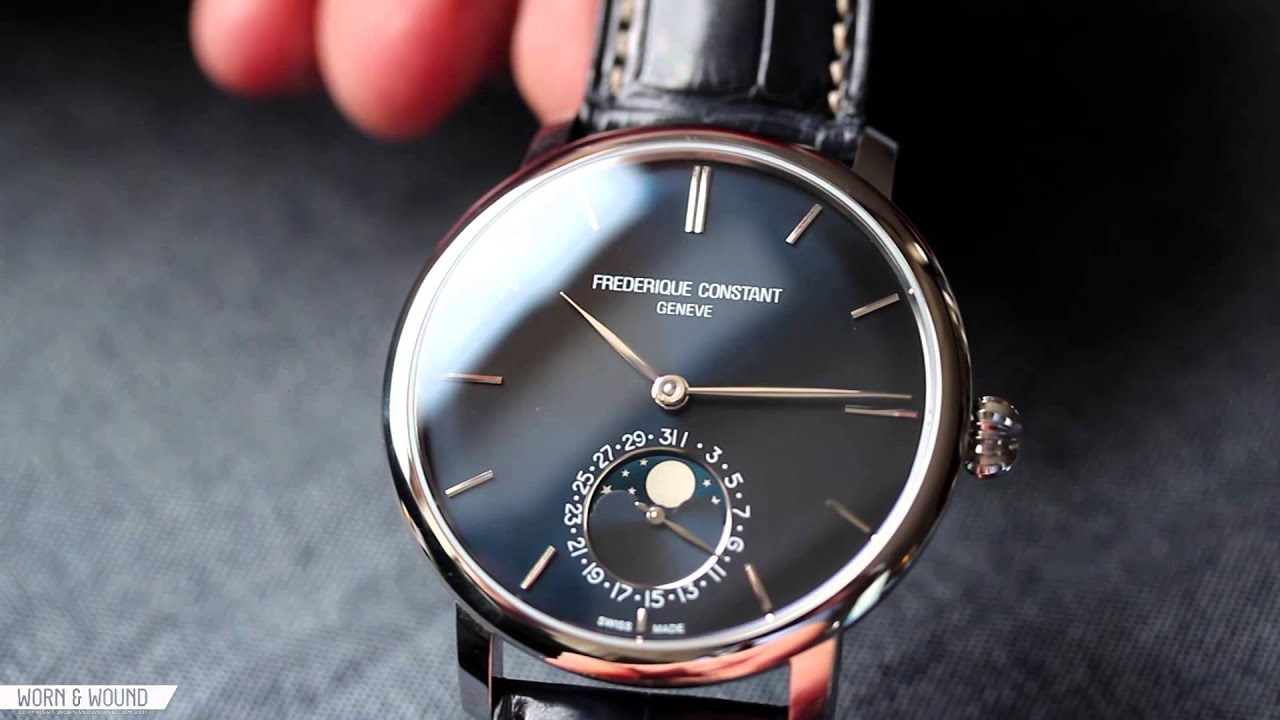 WORN WOUND  FREDERIQUE CONSTANT SLIMLINE MOONPHASE REVIEW - YouTube 7afe9f395570