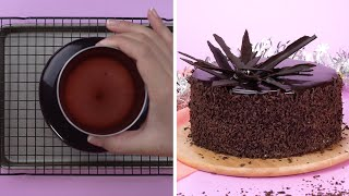 Homemade chocolate cake decorating