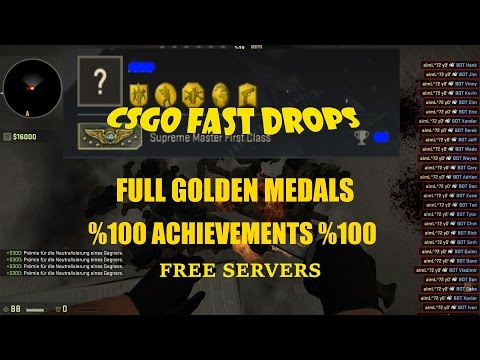 CSGO-Fast Drops-Free Servers-Idle Servers-Full Achievements-Full Golden Medal
