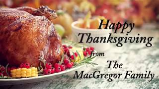 Sen. MacGregor wishes everyone a happy Thanksgiving