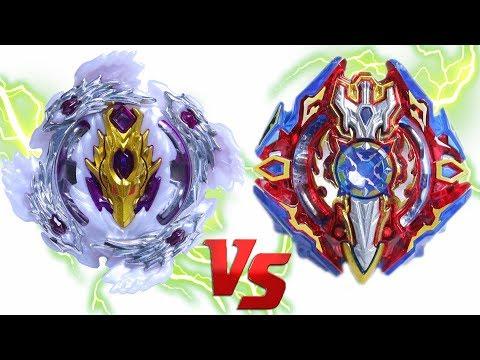 BLOODY LONGINUS vs SIEG XCALIBUR   Beyblade Burst Super Z Chouzetsu ベイブレードバースト 超ゼツ