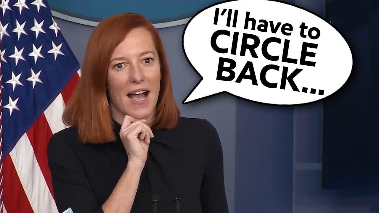 Wh Press Secretary Jen Psaki Will Have To Circle Back Youtube