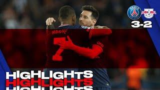 HIGHLIGHTS   PSG 3-2 Leipzig - Mbappé ⚽️ Messi ⚽️⚽️