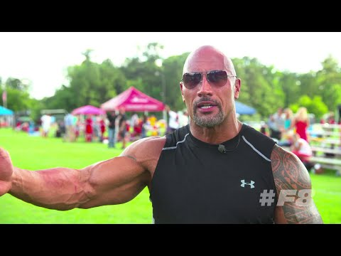 Dwayne 'The Rock' Johnson perfoms the Haka dance - FAST AND FURIOUS 8