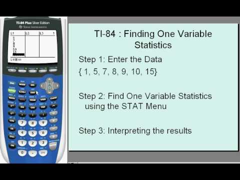 TI 84 Finding One Variable Statistics - YouTube
