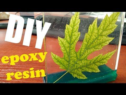 Leaf in resin / DIY / Resin art