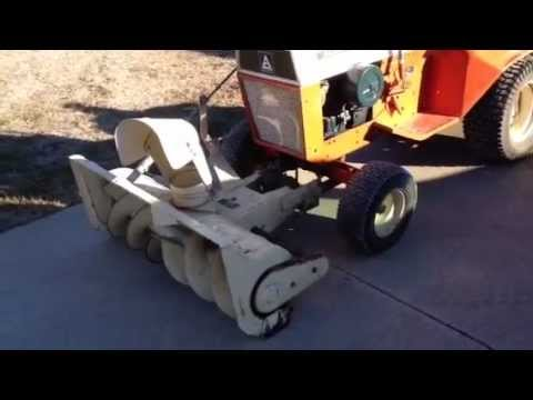 Allis Chalmers 416 Snow Blower - YouTube