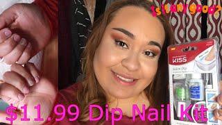Kiss Nail Dipping Kit on Natural Nails/ Drugstore Nail Kit/ Solution for Thin Nails|