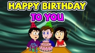Happy Birthday Song For Children | Nursery Rhymes 3D Animation Cartoons For Kids | WOW Juniors