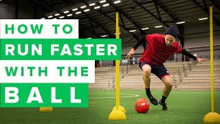 LEARN TO RUN FASTER WITH THE FOOTBALL | how to improve your speed