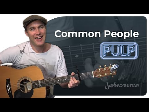 Common People  Pulp Easy Songs Beginner Guitar Lesson BS110 How to play