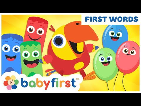 Toddler Learning Video Words W Color Crew & Larry   Learn Colors & ABC Alphabet   BabyFirst TV