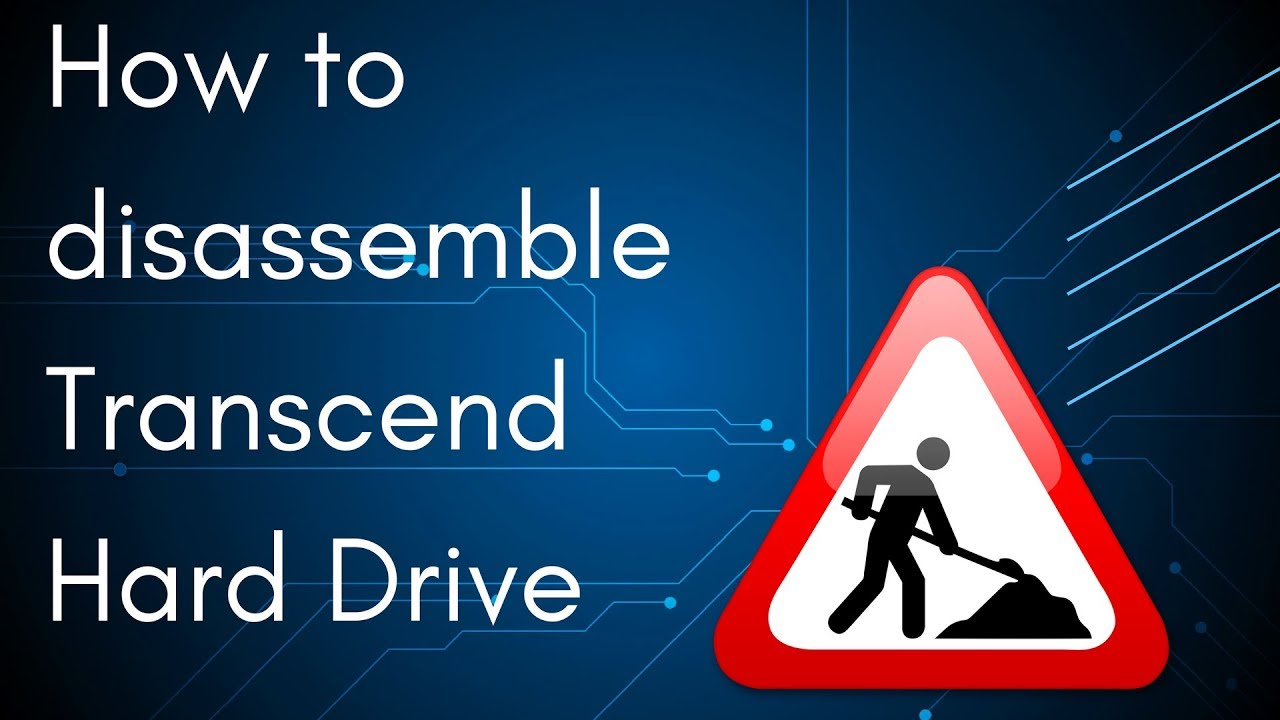 How to disassemble Transcend external Hard Drive
