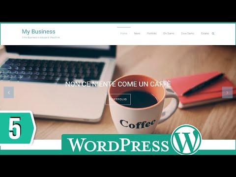 Come Creare Un Sito Web Con Wordpress   Permalink, Colori del Testo, Creare Pagine, Creare Menu 5