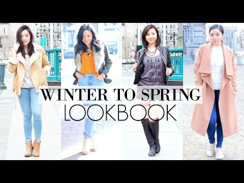 WINTER TO SPRING OUTFITS : FASHION LOOKBOOK 2016   End of Winter Outfits transitioning into Spring