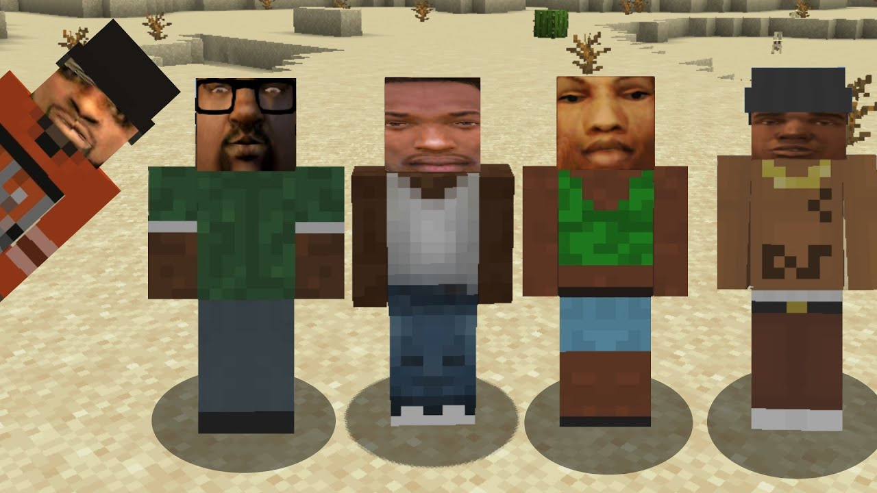 GTA characters in Minecraft be like